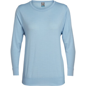 Icebreaker Mira T-shirt manches longues à col ras-du-cou Femme, sky